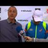 Johan Cruyff viendo padel en Barcelona