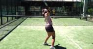 Carolina Navarro entrena la bandeja