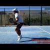 Dante Luchetti entrenando volea y juego de pies