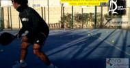Dante Luchetti entrenando volea y pies en diagonal