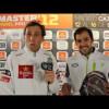 Bebe y Juan Martín luego de su primer victoria en el Master 2012