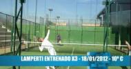 Miguel Lamperti entrenando remates x 3 metros