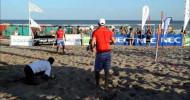 Juan Martín Díaz y Fede Quiles jugando al Beach Tennis